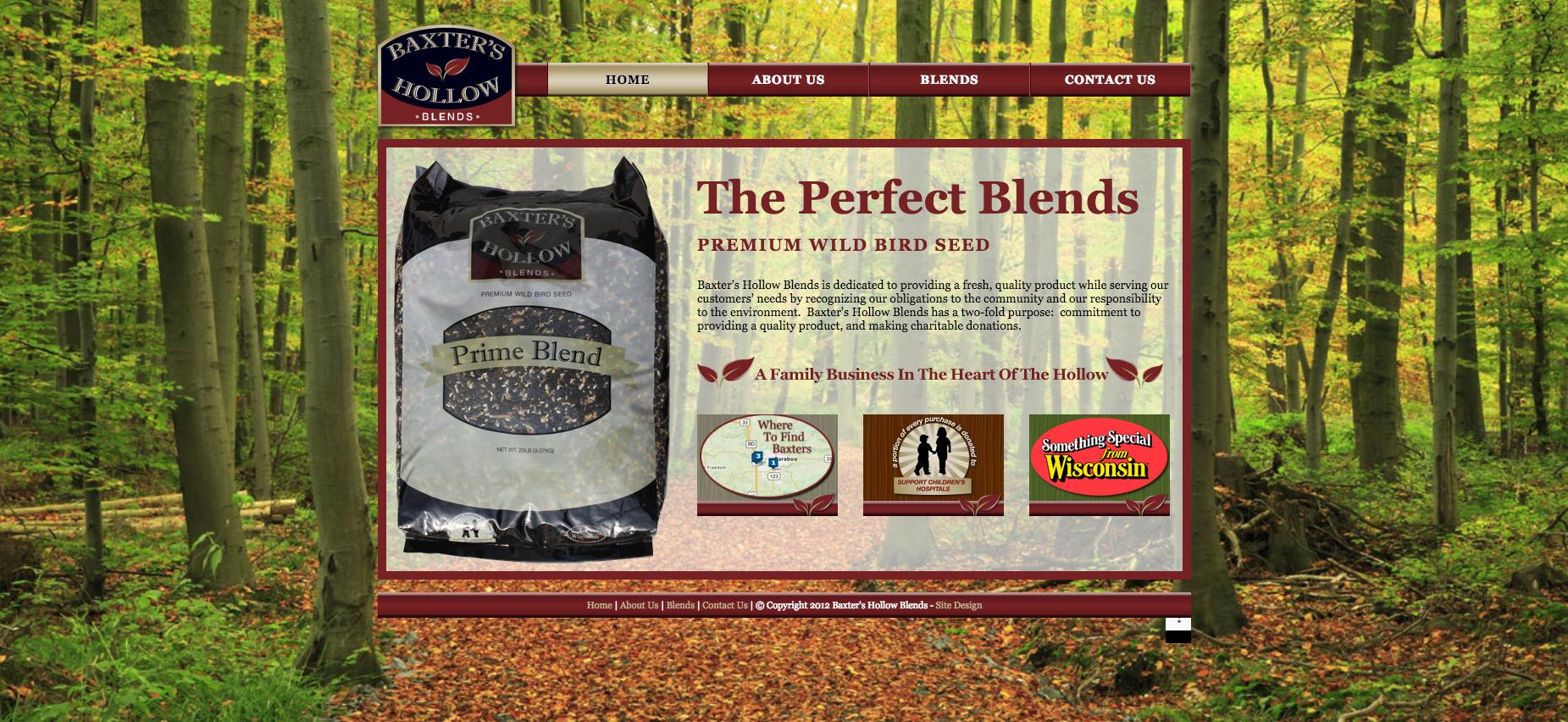 Baxter's Hollow Website Design