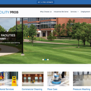 Facility Pros Website Design Homepage
