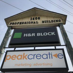 Peak Creative Back Lit Signage