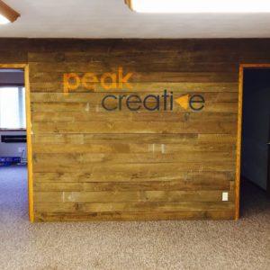 Peak Creative Barnwood Sign