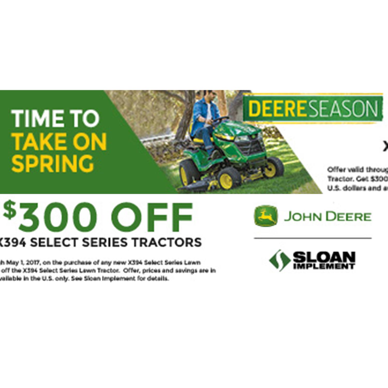 Sloan Deere Season Tractors