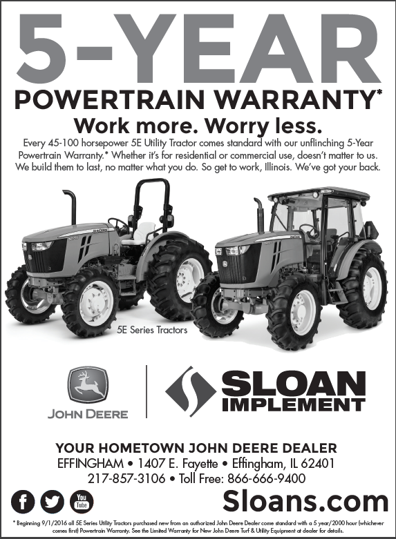 Sloan 5-Year Warranty