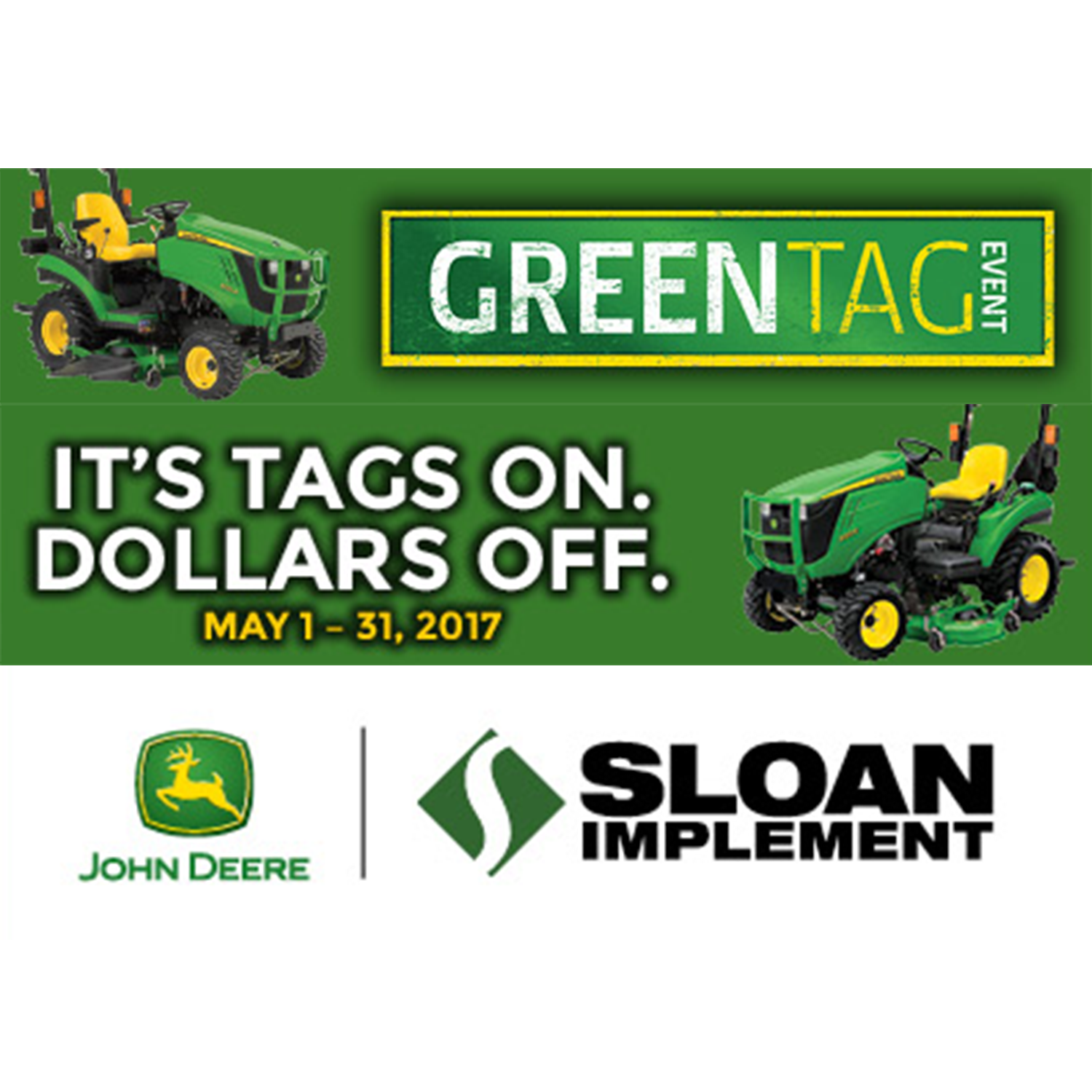 Sloan Green Tag